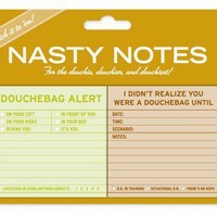 Douchebag Nasty Notes - Naughty Sticky Notes by Knock Knock