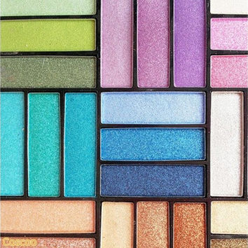 Professional 27 colors Smoky Multicolor Glitter Eyeshadow Shimmer palette makeup beauty [8096938631]