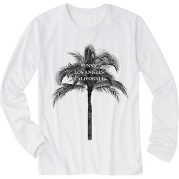Tシャツ【ヤシの木・ロサンゼルス・カリフォルニア】| Women T-Shirt - Palm tree silhouette from sunny Los Angeles California