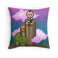 'Poo Meditation' Throw Pillow by likelikes