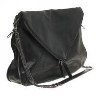 Black Clutch Bag with Purses Chain Strap