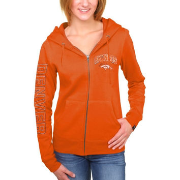 Women's Denver Broncos New Era Orange Core Full Zip Hoodie