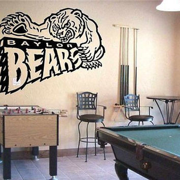 NCAA Baylor Bears Logo Emblem Wall Art Sticker Decal (S078)