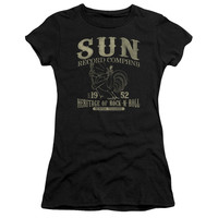 SUN RECORDS/ROCKABILLY BIRD-S/S JUNIOR SHEER-BLACK