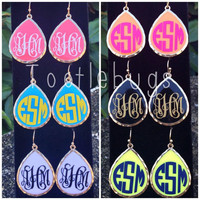 Amazing Monogram Personalized Tear Drop Earrings