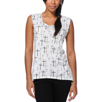 Starling Allover Cross White Muscle Tank Top at Zumiez : PDP