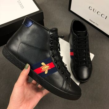 GUCCI Ace embroidered high-top sneaker