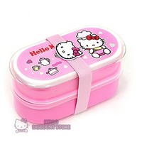 Sanrio Hello Kitty Lunch Box/ Container /Case : Light Pink $14.99