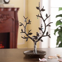 Bird and Twig Jewelry Tree and Nest Stand