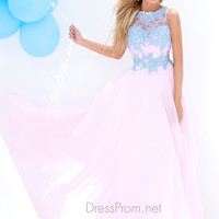 Lace High Neckline Prom Gown By Tony Bowls Le Gala 115567