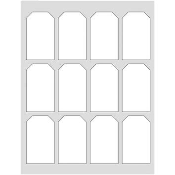 60 Hang Tag Labels, White