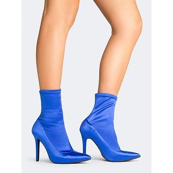 Pointed Toe Sock Bootie