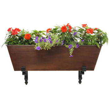 ACHLA Designs C-82C Copper Finished Steel Galvanized Tin Flower Box (Clearance Priced)