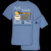Southern Couture Kind Words Bee Honey Comfort Colors T-Shirt