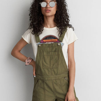 AEO Zip Pocket Shortall , Olive