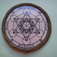 Metatron's seal, sigil,cube, Sacred Geometry, platonic solids,fruit of life,talisman,Ancient ,Flower of Life,Meditation, Tree of Life