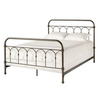 HomeVance Harper Metal Bed (Brown)