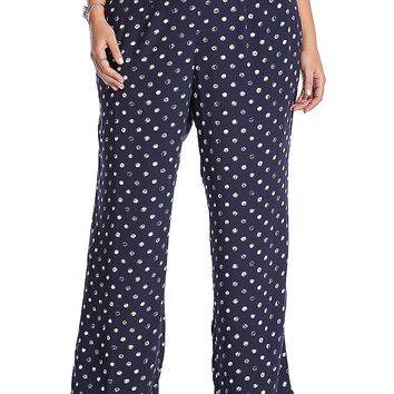 Lucky Brand Polka Dot Pant Womens - Navy Multi