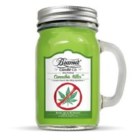 12oz Cannabis Killer (Removes Weed Smell) Scented Beamer Candle Co. Ultra Premium Jar Candle. 90 Hr Burn Time. USA Made