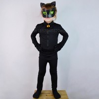 Miraculous Ladybug Boys Jumpsuite Adrien Agreste Black Cat Noir Cat suit Cosplay Costume Lady Bug Kid Halloween Fancy Clothes