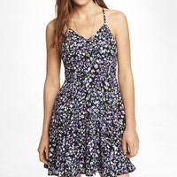 FLORAL HALTER SLIP DRESS