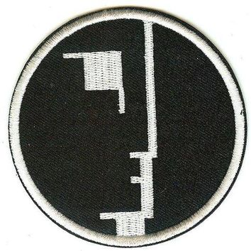 Bauhaus Iron-On Patch Round Face Logo
