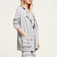 Free People Womens Peacoat Anorak Jacket