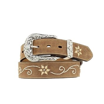 Nocona Women's Floral Scroll Embroidery Belt