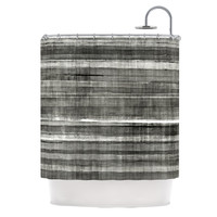 "CarolLynn Tice ""Grey Accent"" Dark Neutral Shower Curtain"