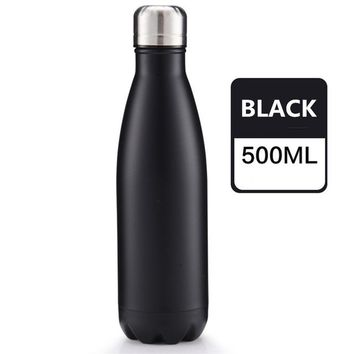 Family Friends party Board game 500ml BPA FREE Insulated sports MILK coffee Cup Stainless Steel Thermos Water Bottle bowling Vacuum Flask Travel TEA Mug AT_41_3