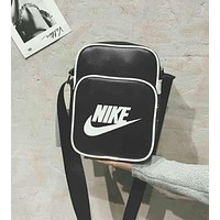 Nike Trending Unisex Simple Leather Zipper Wallet Sport Single-Shoulder Bag I-A30-XBSJ
