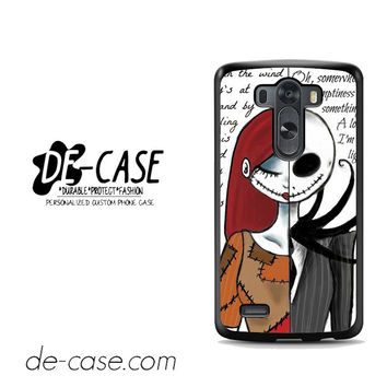 The Nightmare Before Christmas Quotes For LG G3 Case Phone Case Gift Present YO