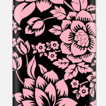 iPhone 6 case , Pink and Black Floral iPhone 6 case , Pink Flower iPhone case , iPhone 5c case , cellcasebythatsnancy