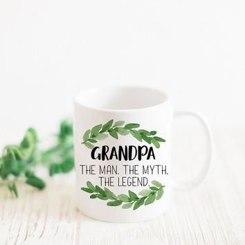 "PROMENADE FIELD ""GRANDPA THE MAN THE MYTH THE LEGEND"" MUG"