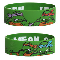 Teenage Mutant Ninja Turtles Lean Mean Green Rubber Bracelet