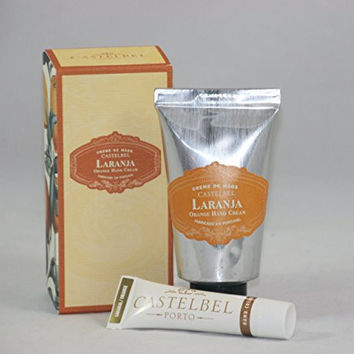 Castelbel Orange Hand Cream Set One Each 2.5 Ounce and 0.5 Ounce