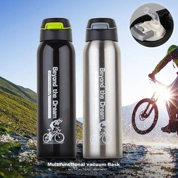 500 Ml Riding Bike Water Bottle Outdoor Sport Portable Bicycle Kettle Water Bottle Stainless Steel Mountain Cycling Bottle