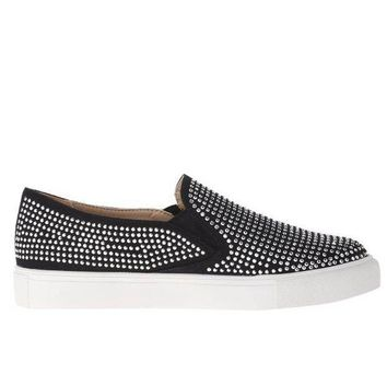 Wanted Shea   Black Studded Slip On Loafer Sneaker