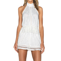 Zimmermann Admire Cherry Playsuit in Ivory