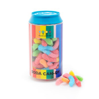 Dylan's Candy Bar Soda Can filled with Mini Neon Sour Worms | Dylan's Candy Bar