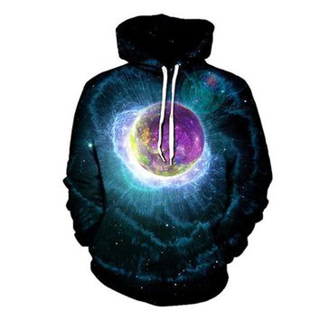 2017 New Trippy Artwork Hoodie Music Festival Clothing Planet Sublimation Print Galaxy Nebula EDM Wear Plus Size 3XL
