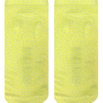 Pebble Yellow Ankle Socks