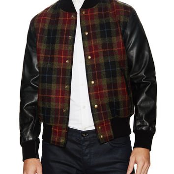 Slater and Sons by Golden Bear Men's Printed Varsity Jacket -