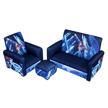 Komfy Kings, Inc 80019 Superman-Power Up Sofa Chair and Ottoman