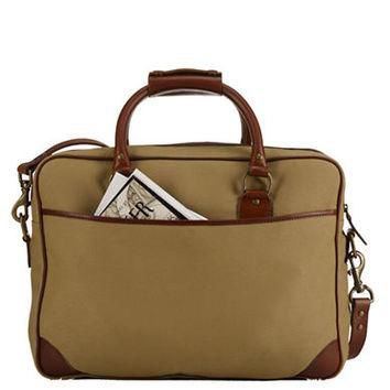 Polo Ralph Lauren Canvas and Leather Commuter Bag