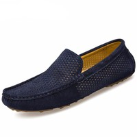 Men's Breathable Genuine Leather Flats