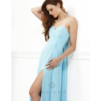 Faviana 2013 Prom Dresses - Tiffany Blue Chiffon Strapless Prom Dress