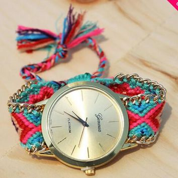 flora friendship handmade bracelet watch 2