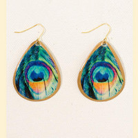 Pretty Feathers Earrings - Francesca's Collections