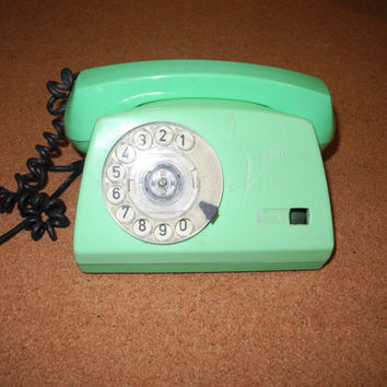 for parts Vintage Soviet phone rotary telephone by vintagelarisa